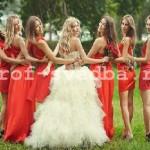 Цвета платьев подружек невесты.
