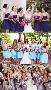 Цвета платьев подружек невесты