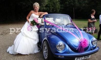 Оформление машины на свадьбу