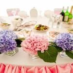 Свадебное украшение цветами.